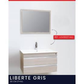 Liberté  - Bois Stratifié - Gris - 80 cm- 2T+ ALL