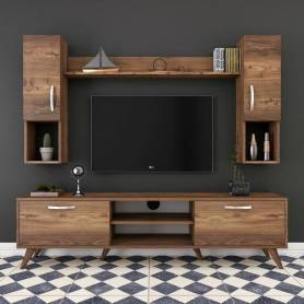 Elément TV  - Giro - Bois MDF - Marron 302