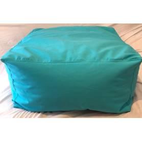 Pouf Carré XXL -  60*60*30 - Bleu Turquoise