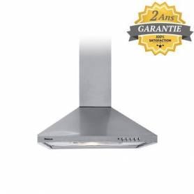 Focus - Hotte cheminée pyramidale - 60 cm - F605X - INOX - 3 Vitesses - Garantie 2 Ans