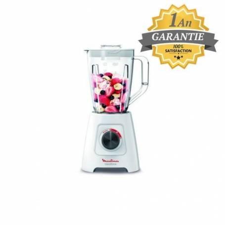 Moulinex - Blender - Blendforce - LM420110 - Bol 2L - 600W - Blanc - Garantie 1 An