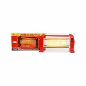 Hge - Chauffage Electrique - Quartz - CEQ1500 - Rouge - 1500W