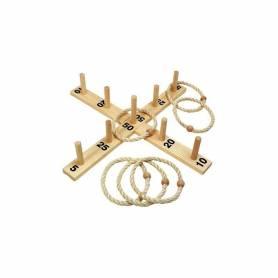 Jeu de lancer d'anneaux en bois