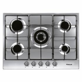 Plaque de cuisson 5 feux - F.407X - 70 Cm - Inox - Garantie 2 Ans
