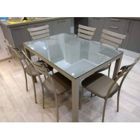 Table cuisine Luxy avec 6 chaises- 120*80