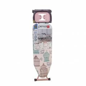 Planche A Repasser - 112Cm x 36Cm - SILVIA - Perilla - Rose - Made In Turkey