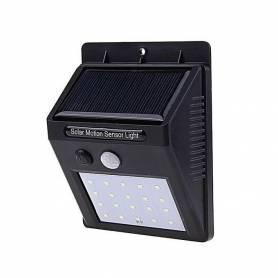 Applique solaire 20 Led étanche - Avec détecteur de mouvement - Noir - 102 * 53 * 130 mm