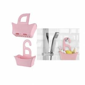 Panier de rangement bain et douche - Rose